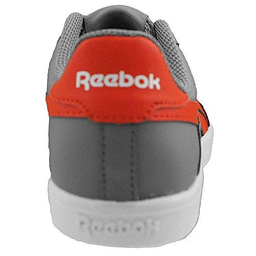 Reebok - Royal Effect - V63169 - Color: Blanco-Gris-Naranja - Size: 30.5