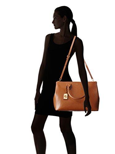 Ralph Lauren Newbury Double Zip Satchel Handbag In Tan - RRP £280 to £310   Amazon.co.uk  Shoes   Bags df45f542a661c