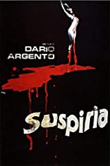 Suspiria Dario Argento Vintage Horror Movie Poster. This print is made with acid free and archival materials in the USA.