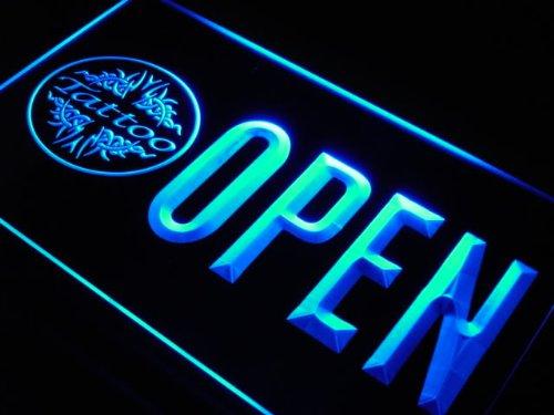 OPEN Tattoo Art Shop Body Bar LED Sign Neon Light Sign Display j749-b(c) Open Tattoo Shop