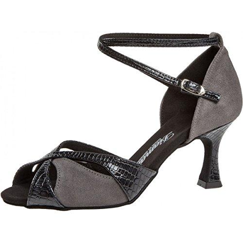 Negro Mujeres Ante de Baile 5 Diamant 414 Zapatos 141 6 087 Flare Gris cm zqdEER0w