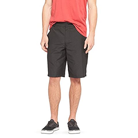 Men's Plaid Fashion Shorts - Mossimo Supply Co. (30, Black Striped) (Mossimo Supply Co For Men)