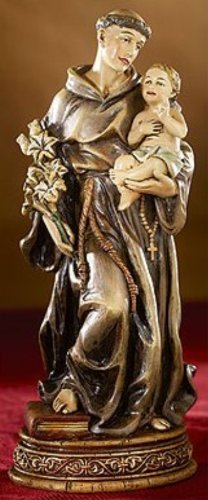 6'' Saint St. Anthony Religious Statue Gifts of Faith Bellavista Milagros
