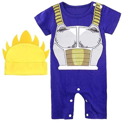 JarilnMo DBZ Baby Onesie Outfits Dragon Ball z Goku Vegeta Baby Clothing with hat,color6(6M) -