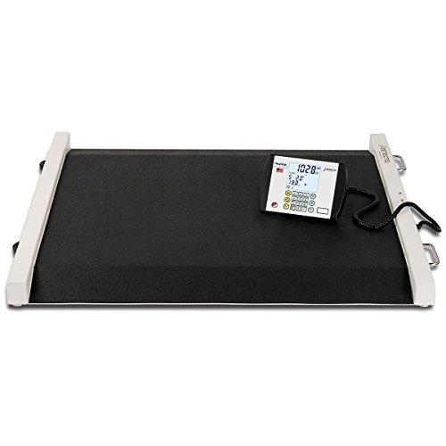 (Detecto portable bariatric wheelchair scale (1100 lb/500 kg), 49x45x8