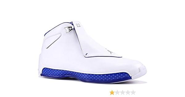 b76e44c8468 Amazon.com | Nike Air Jordan 18 Retro Basketball Sneaker Rarity 2018  White/Blue/Silver | Basketball