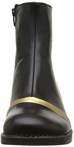 Art Bristol Panel Zip - Botines para Mujer Negro (Star Black-Gold)