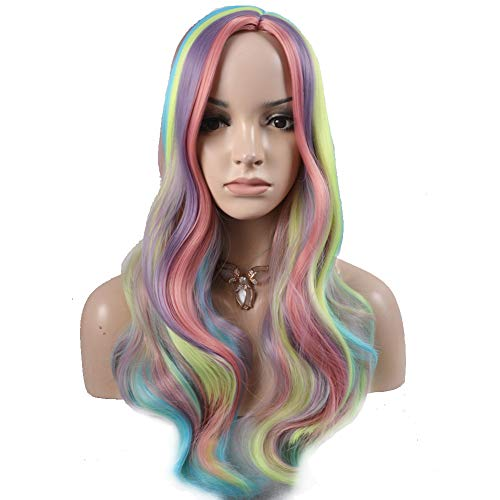 BERON Long Curly Multi-Color Charming Full Wigs for