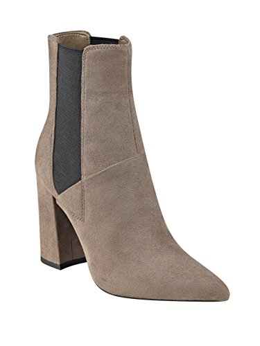 GUESS Women's Breki2 Ankle Bootie, Tan/Dark Storm, 9 M - Boots Guess Grey