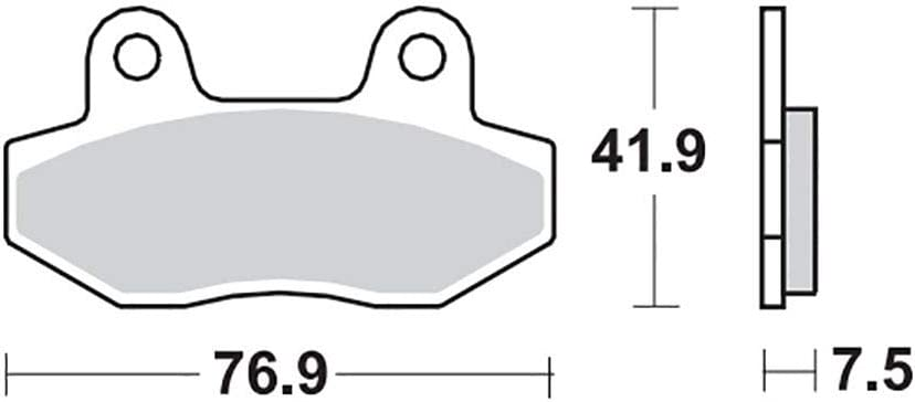 Bremsbelag Moto-Master RoadPRO Ceramic GT 125 Naked 03-04 hinten