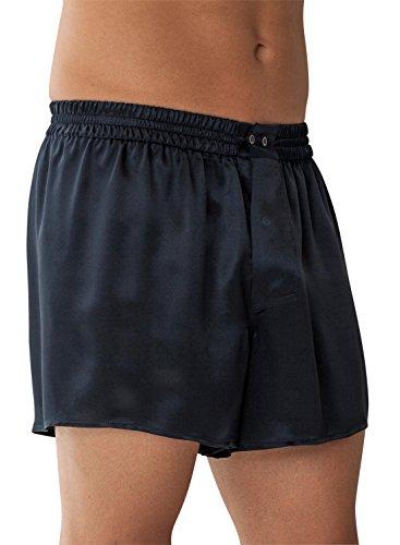 Zimmerli Men's Woven Silk Boxer Nightwear M Navy