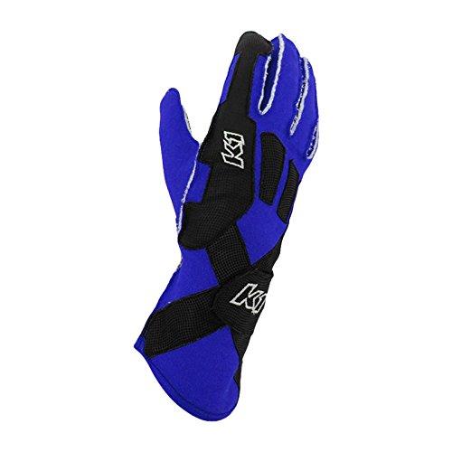 K1 Race Gear Pro-XS SFI Auto Racing Gloves (Blue, Medium)