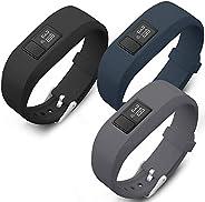 SKYLET Compatible with Garmin Vivofit JR Kids/Vivofit 3/Vivofit Jr 2 Bands, 3 Pack Colorful Silicone Replaceme