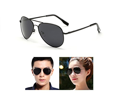 Aviator Sunglasses Gifts for Men Woman Fashion Sports Wife Girl Boy Gift Military Polarized Full Mirrored Flash Lens Uv 400 rays (Black frame/Smoke lens, - Protection Between The What And Difference Is Polarized Uv