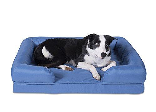 Sleepi Premium Water Resistant Memory Foam Bolster Pet Bed, 28'' x 36'' x 8'', Riverside by Sleepi