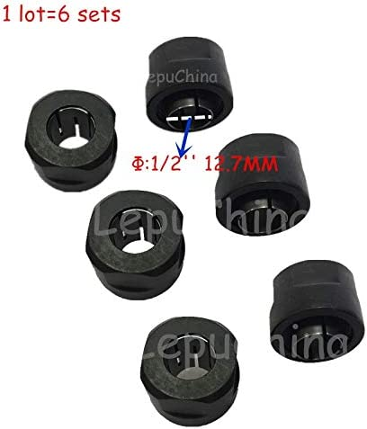 Corolado Spare Parts 6 Sets Router Collet Cone Nut Replacement for Makita 3612Y 3612 3612T 3612Cy 3612C 3612Ct 3612Br 3612 3600H 7636290 7636224