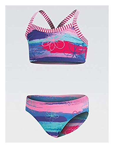 Dolfin Uglies Girls Print 2-Piece Surfs Up 10 & Cooling Towel Bundle ()