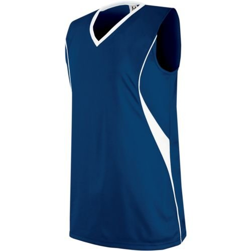 Side Piping Décor - Women's/Girls Athletic Sports Jersey Moisture Management, V-Neck Sleeveless Shirt (Uniform Softball, Soccer, Volleyball)