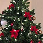 Zabrina-6-Pcs-13cm-Christmas-Tree-Decorative-Silk-Flower-Gold-Poinsettia-Bush-and-Red-Poinsettia-Bush-Artificial-Flowers-Red-Glitter-Poinsettia-Christmas-Tree-Ornaments-Red
