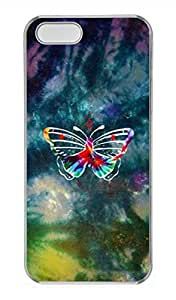iPhone 5 5S Case Colorful Butterfly Cover Skin For iPhone 5/5S Cases Transparent