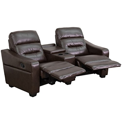 Flash Furniture Futura Series 2-Seat Recliner Brown Leather (Large Image)