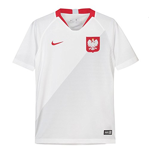 Nike 2018-2019 Poland Home Football Soccer T-Shirt Jersey (Kids) ()