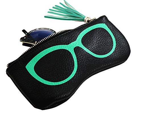 Sunglasses Pouch Eyeglass Cases Eyeglass Holder Goggles Case Glasses Bag Zip Bag (Black)