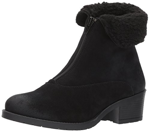 Bos. & Co. Womens Bellin Snow Boot Black/Off White Suede/Sherpa