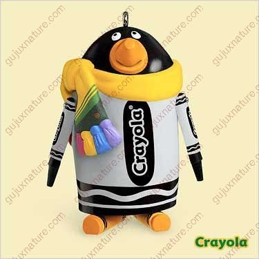 Crayola suited penguin 2006 Hallmark ornament (Crayola Ornament)