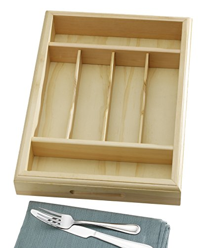 Towle Living 5183786 6 Slot Natural Deluxe Wood Caddy, Brown by Towle Living