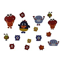 Graco Baby Monsters Self Stick Boys Wall Decal Set Multi