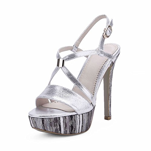 Stiletto Strap Silver Dress Women SaraIris for Heels Platform Ankle sandal xwqqzaF
