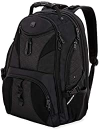1900 ScanSmart Laptop Backpack | Fits Most 17 Inch Laptops and Tablets | TSA Friendly Backpack | Ideal for Work, Travel, School, College, and Commuting- Black/Black