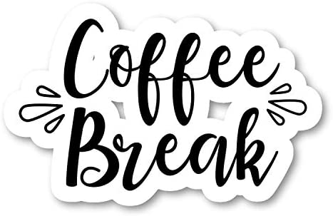 Coffee Break Sticker Funny Quotes Stickers - 2 Pack - Laptop ...
