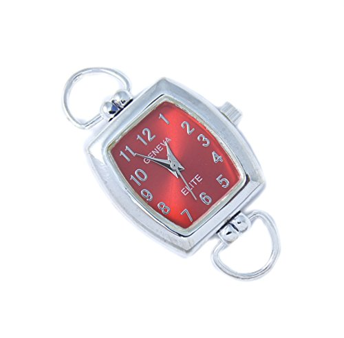 Geneva Elite Red Dial Watch Face for Beading RW12 ()