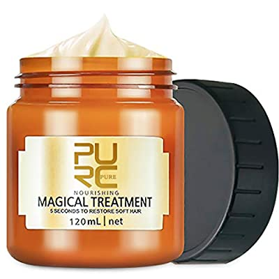 Magical Hair Treatment Mask, Advanced Molecular Hair Roots Treatment Professtional Hair Conditioner, 5 Seconds to Restore Soft, Deep Conditioner Suitable for Dry & Damaged Hair