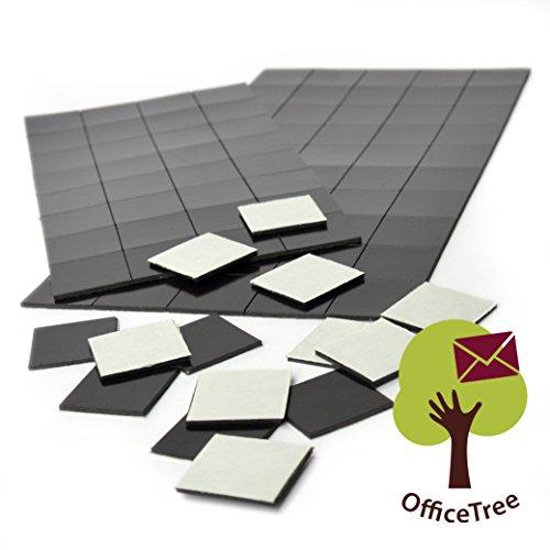 Office Tree® 2X 50Piastrine Magnet–20X 20mm–autoadesivo per sicuro magnetisierung von plakaten foto Papier–Extra Forte Forza adesiva alla lavagna bianca magnetica Lavagna bacheca–Nero