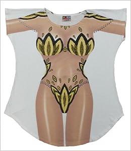 426cbd2fd0 L.A. Imprints Showgirl Bikini Body Cover-Up T-Shirt #30 Plus Size White  (Regular Size, White): 0616806898170: Amazon.com: Books