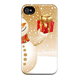 Premium Iphone 4/4s Case - Protective Skin - High Quality For Snowman Christmas Gift