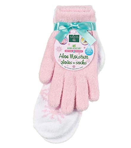 Earth Therapeutics Aloe Infused Moisturizing Gloves & Socks Set