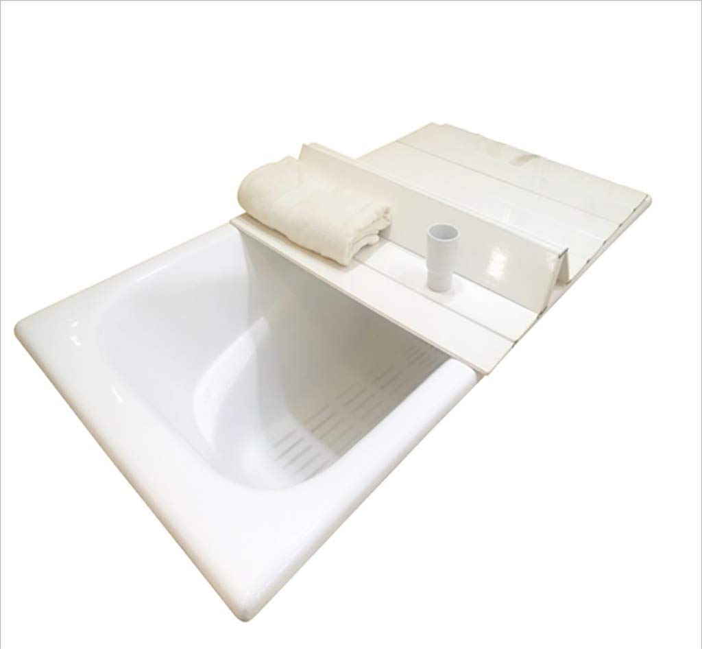 GJath Bathtub Trays Bathtub Stand, Plastic Folding Bath Cover/Bath Bathtub dustproof Shelf (Size : L:159W:75cm)