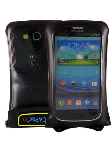 DiCAPac WP-C1 - Etui étanche pour iPhones 3/ 4/ 4S / 5 et Smartphones - Samsung Galaxy S3 S4, HTC One, LG G2, LG Optimus L9, Nokia Lumia 1020 et d'autres -- 147mm x 96mm - couleur noir