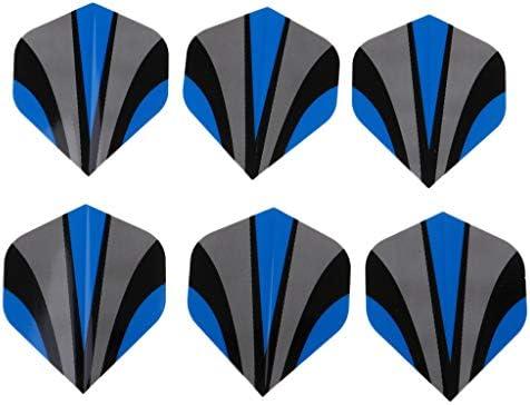 sharprepublic ダーツフライト 6個 PVC ダーツゲーム スタンダードシェイプ テールアクセサリー 全17種