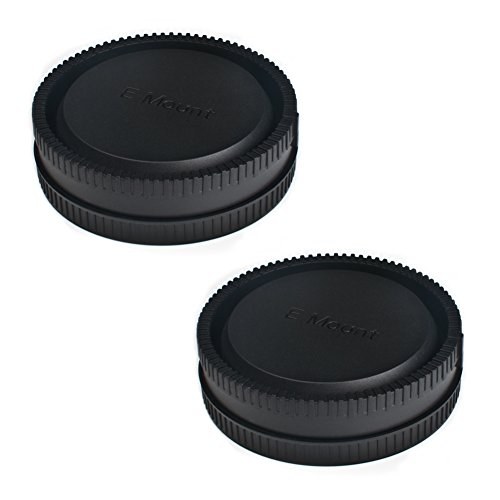 (2 Pack) VKO Front Body Cap & Rear Lens Cap Replacement for Sony a6400 a6500 a6300 a6000 a5100 a5000 A7SII A7R/S A7RII NEX-5 5R 5N 6 7 E Mount Camera Body & Lens, Replaces ALCB1EM ALCR1EM (Carl Zeiss Planar T 85mm F1 4)