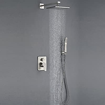 All Metal Brushed Nickel Shower Faucet Strong Large Flow Of The Water