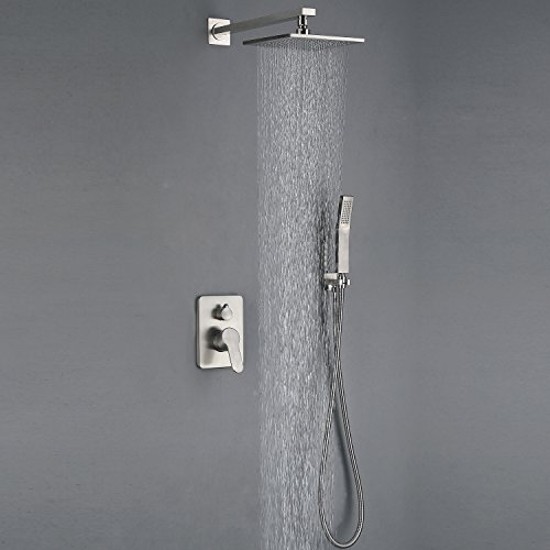 All Metal Brushed Nickel Shower Faucet Strong Large Flow Of The (Complete Shower Set)