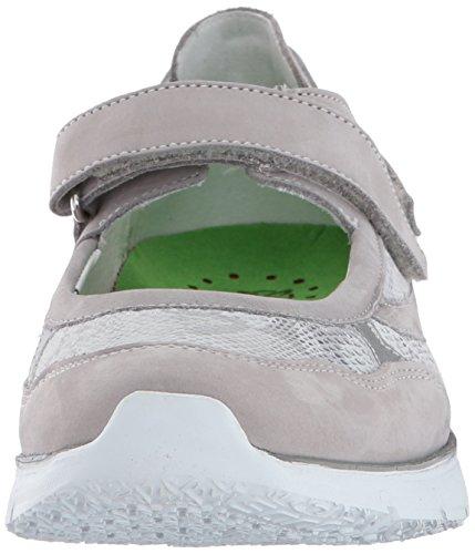 Mephisto Sano De Mujeres Villia Walking Shoe Cloud Bucksoft; Plata Savana / Perl Calfskin