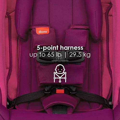 41b3pYFZ dL - Diono Radian 3RX 3-in-1 Rear And Forward Facing Convertible Car Seat, Head Support Infant Insert, 10 Years 1 Car Seat Ultimate Safety And Protection, Slim Design - Fits 3 Across, Pink Blossom