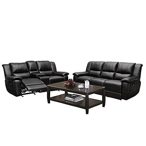 Amazon.com: Home Square 3 Piece Living Room Set with ...