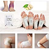 Colorcasa 2018 Antl-inf Lammation Swelling Ginger Foot Pads (50 Pieces)